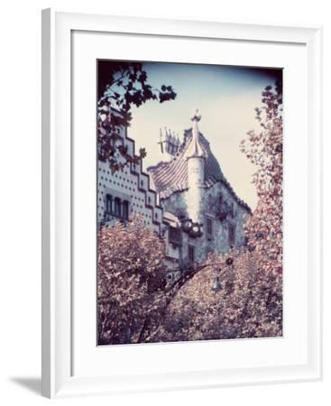Architecture in Park Guell Designed by Antonio Gaudi-Nat Farbman-Framed Photographic Print