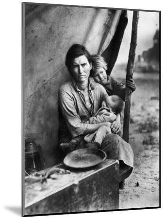 Migrant Mother Florence Thompson and Children Photographed by Dorothea Lange-Dorothea Lange-Mounted Photographic Print