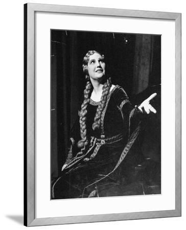 Singer Kirsten Flagstad Appearing in the Opera, Tristan and Isolde-Paul Dorsey-Framed Premium Photographic Print