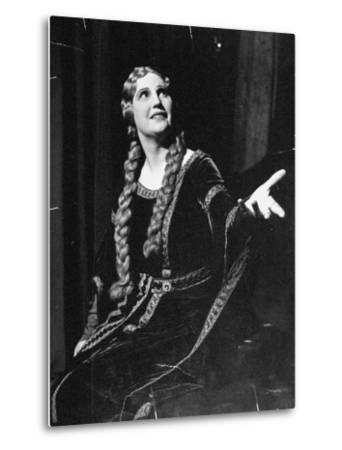 Singer Kirsten Flagstad Appearing in the Opera, Tristan and Isolde-Paul Dorsey-Metal Print