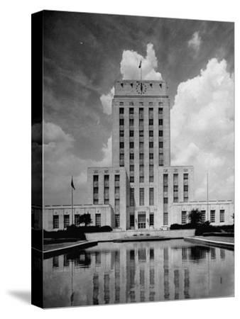 Exterior of City Hall in Houston-Dmitri Kessel-Stretched Canvas Print