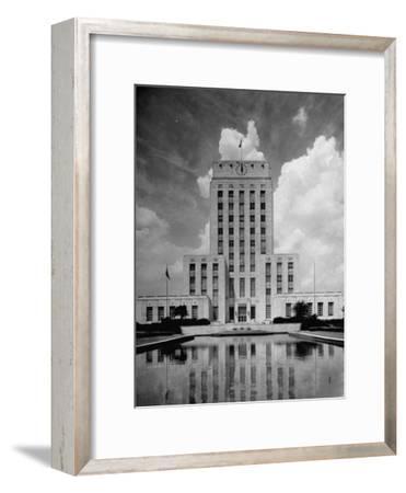Exterior of City Hall in Houston-Dmitri Kessel-Framed Photographic Print