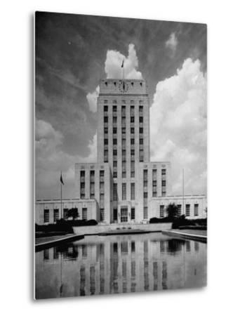 Exterior of City Hall in Houston-Dmitri Kessel-Metal Print