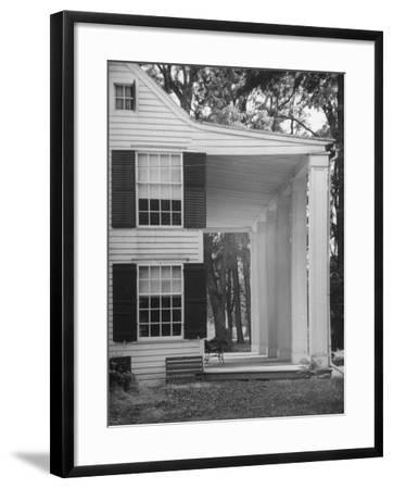 Exterior View of the House of Revolutionary War General Philip Schuyler, Hudson River Valley-Margaret Bourke-White-Framed Photographic Print