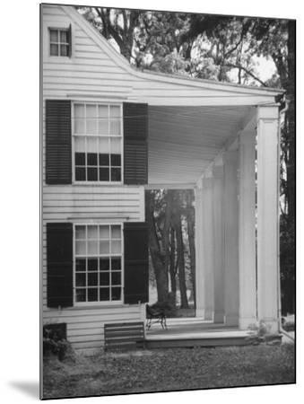 Exterior View of the House of Revolutionary War General Philip Schuyler, Hudson River Valley-Margaret Bourke-White-Mounted Photographic Print