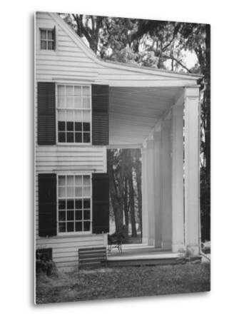 Exterior View of the House of Revolutionary War General Philip Schuyler, Hudson River Valley-Margaret Bourke-White-Metal Print