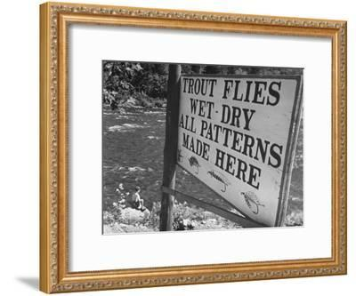 Trout: Wet - Dry All Patterns Made Here Between North Creek and North River, Hudson River Valley-Margaret Bourke-White-Framed Photographic Print
