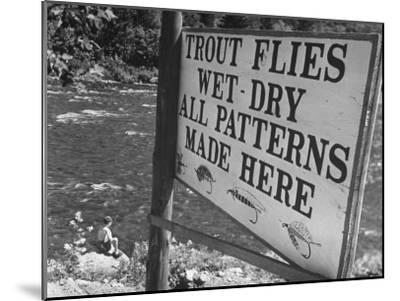 Trout: Wet - Dry All Patterns Made Here Between North Creek and North River, Hudson River Valley-Margaret Bourke-White-Mounted Photographic Print