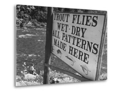 Trout: Wet - Dry All Patterns Made Here Between North Creek and North River, Hudson River Valley-Margaret Bourke-White-Metal Print