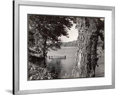 Boat Landing on the Banks of the Hudson River-Margaret Bourke-White-Framed Photographic Print