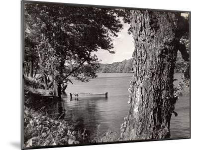 Boat Landing on the Banks of the Hudson River-Margaret Bourke-White-Mounted Photographic Print