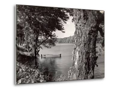 Boat Landing on the Banks of the Hudson River-Margaret Bourke-White-Metal Print