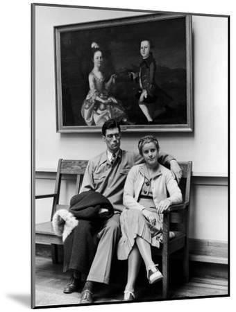 Charles Pope, Track Star and Student Council President Sitting with Katherine Winne-Alfred Eisenstaedt-Mounted Photographic Print