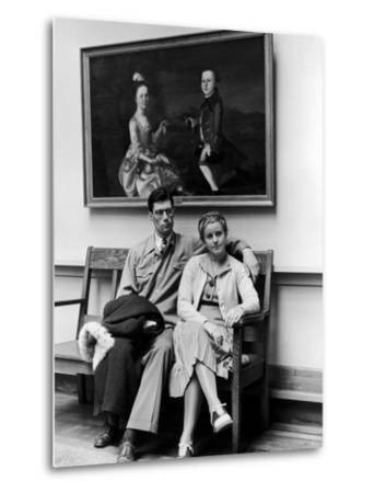 Charles Pope, Track Star and Student Council President Sitting with Katherine Winne-Alfred Eisenstaedt-Metal Print