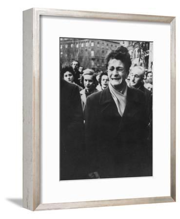 Young Hungarian Singing Patriotic Song in an Effort to Obtain UN Help During Revolution-Michael Rougier-Framed Photographic Print