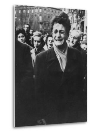 Young Hungarian Singing Patriotic Song in an Effort to Obtain UN Help During Revolution-Michael Rougier-Metal Print