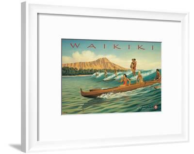 Waikiki-Kerne Erickson-Framed Premium Giclee Print