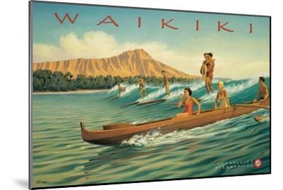 Waikiki-Kerne Erickson-Mounted Premium Giclee Print