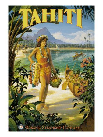 Tahiti-Kerne Erickson-Framed Giclee Print