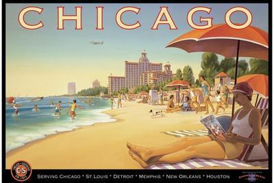 Chicago and Southern Air-Kerne Erickson-Stretched Canvas Print