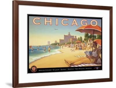 Chicago and Southern Air-Kerne Erickson-Framed Giclee Print