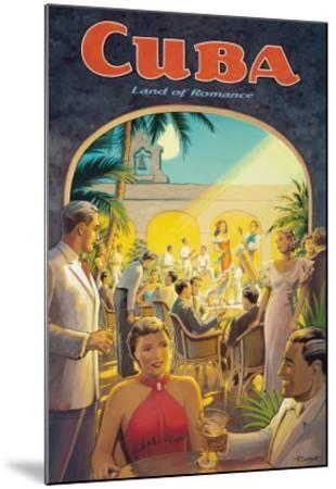 Cuba, Land of Romance-Kerne Erickson-Mounted Giclee Print