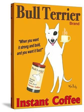 Bull Terrier Brand-Ken Bailey-Stretched Canvas Print