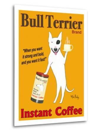 Bull Terrier Brand-Ken Bailey-Metal Print