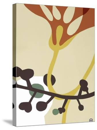 Dancing Flowers V-Mary Calkins-Stretched Canvas Print