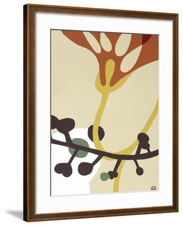 Dancing Flowers V-Mary Calkins-Framed Premium Giclee Print