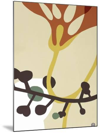 Dancing Flowers V-Mary Calkins-Mounted Premium Giclee Print
