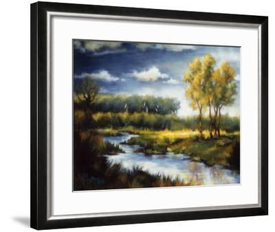 Stream and Field I-J^m^ Steele-Framed Premium Giclee Print