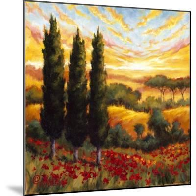 Tuscany in Bloom IV--Mounted Premium Giclee Print