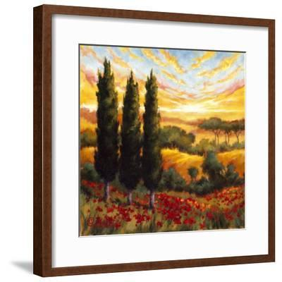 Tuscany in Bloom IV--Framed Premium Giclee Print