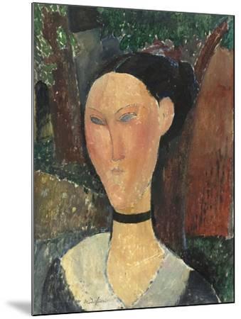 Femme au ruban de velours-Amedeo Modigliani-Mounted Giclee Print