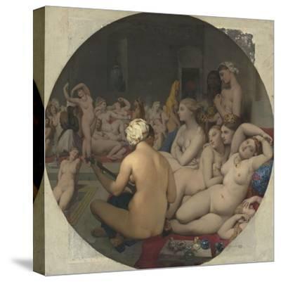 Le Bain turc-Jean-Auguste-Dominique Ingres-Stretched Canvas Print