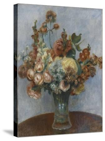 Fleurs dans un vase-Pierre-Auguste Renoir-Stretched Canvas Print