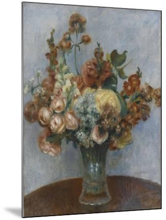 Fleurs dans un vase-Pierre-Auguste Renoir-Mounted Giclee Print