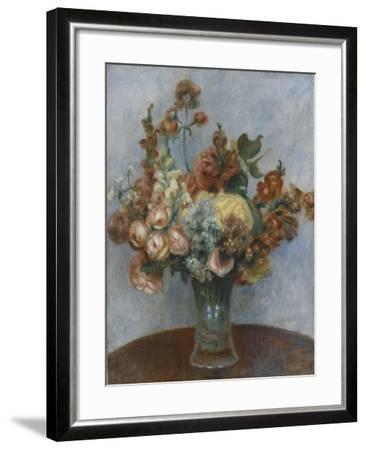 Fleurs dans un vase-Pierre-Auguste Renoir-Framed Giclee Print