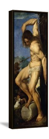Averoldi Polyptych (detail)-Titian (Tiziano Vecelli)-Framed Stretched Canvas Print