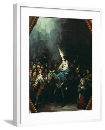 A Woman Condemned by the Inquisition-Eugenio Lucas y Padilla-Framed Giclee Print