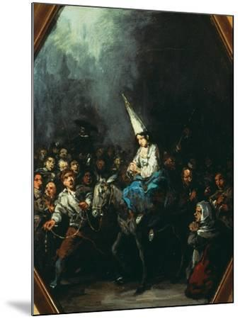 A Woman Condemned by the Inquisition-Eugenio Lucas y Padilla-Mounted Giclee Print