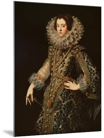 Portrait of Isabel of Bourbon--Mounted Giclee Print