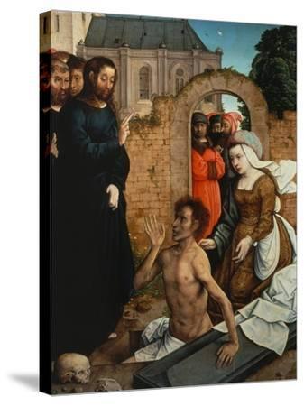 Raising of Lazarus-Juan de Flandes-Stretched Canvas Print