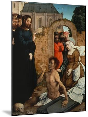 Raising of Lazarus-Juan de Flandes-Mounted Giclee Print