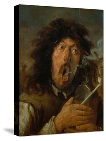 The Smoker-Joos Van Craesbeeck-Stretched Canvas Print