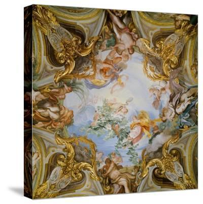 Ceiling with the Summer-Gregorio De Ferrari-Stretched Canvas Print