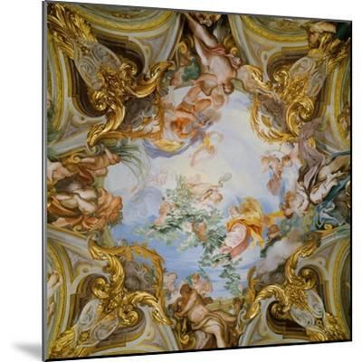 Ceiling with the Summer-Gregorio De Ferrari-Mounted Giclee Print