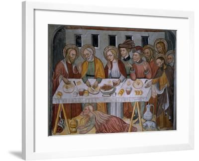 Scenes from the Life of Jesus Christ, Supper in Simon's House, 15th Century--Framed Giclee Print