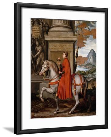 Mathild of Canossa on Horseback-Orazio Farinati-Framed Giclee Print